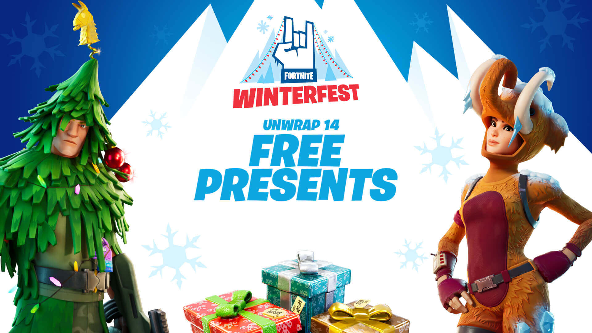 fortnite winterfest presents
