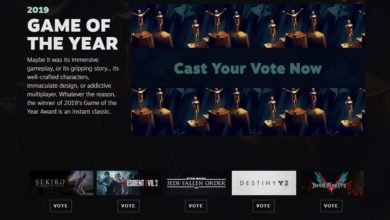 Photo of Steam เปิดโหวต 2019 GAME OF THE YEAR