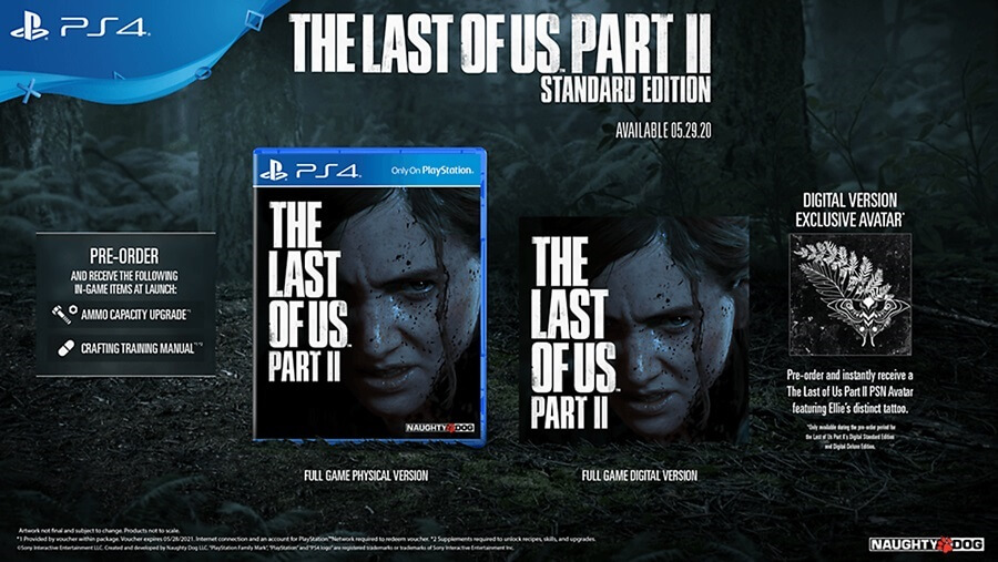 The last of us II ในแบบ Standard Edition